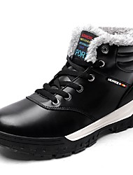 Masculino sapatos Courino Outono Inverno Botas de Neve Botas Botas Curtas / Ankle Cadarço Para Preto Marron Azul