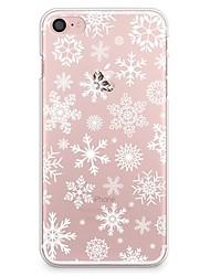 abordables -Funda Para Apple iPhone X iPhone 8 Transparente Diseños Cubierta Trasera Navidad Suave TPU para iPhone X iPhone 8 Plus iPhone 8 iPhone 7