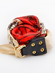 cheap -Women's Leather Flower Leather Bracelet - Fashion Adjustable Button Red Blue Pink Bracelet For Daily Casual