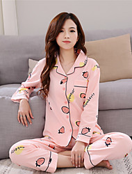 cheap -Women's Pajamas Thick Cotton Roman Knit Blushing Pink