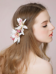 cheap -Fabric Flowers Headwear Hair Clip with Floral 1pc Wedding Special Occasion Headpiece