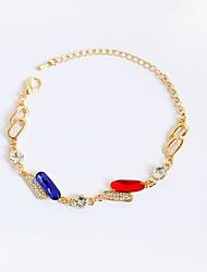 abordables -Femme Fille Chaînes & Bracelets Bracelets de tennis - Personnalisé Irrégulier Or Bracelet Pour Anniversaire Cadeau Quotidien