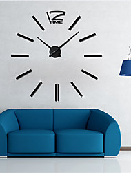 Modern/Contemporary Casual Office/Business Classic Theme Wall Clock,Round EVA Stainless steel Indoor/Outdoor Indoor Clock
