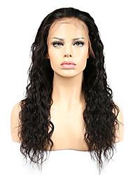 cheap -Women Human Hair Lace Wig Silk Base Full Lace Glueless Full Lace Full Lace Wigs 120% Density With Baby Hair Water Wave Wigs Brazilian Hair