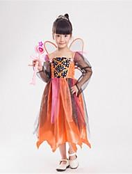 Недорогие -Принцесса Сказка Тинкер Белл Косплэй Kостюмы Для детей Хэллоуин Фестиваль / праздник Костюмы на Хэллоуин Оранжевый Мода