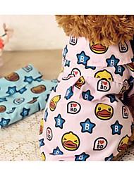 Perro Camiseta Ropa para Perro Transpirabilidad Casual/Diario Caricaturas Estrellas Azul Rosa Disfraz Para mascotas