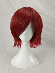 cheap -Synthetic Hair Wigs Straight Layered Haircut Capless Party Wig Cosplay Wig Short Red