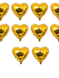 10pcs/Set - 10inch Golden Heart Shaped Balloons Beter Gifts® DIY Party Decoration