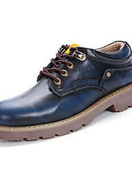 cheap -Men's Fashion Boots Leatherette Spring / Summer Comfort Sneakers Brown / Blue