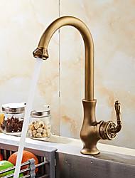 Installazione centrale Separato with  Valvola in ceramica Bronzo anticato , Rubinetto da cucina