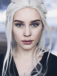 Uniwigs Synthetic Lace Front Wigs Game Of Throne Dany Dragon Mom DIY Braiding Long Loose Wave Blonde Color Wig Heat Resistent For Fashion Women