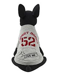 Cane Felpa Abbigliamento per cani Casual Formale Grigio Rosso