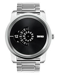 economico -orologi casuali di modo degli uomini di lusso bussiness quarzo-orologi in acciaio inossidabile orologio militare vestito da orologio skmei