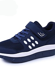 cheap -Unisex Shoes Tulle Spring / Fall Comfort Athletic Shoes Running Shoes Platform Round Toe Lace-up Gray / Blue / Burgundy