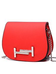 cheap -Women Bags PU Crossbody Bag Beading for Event/Party Casual All Seasons Black Red Blushing Pink Milky White