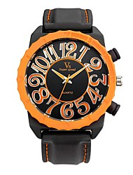 Men's Sport Watch Wrist watch Casual Watch Chinese Quartz / Silicone Rubber Band Vintage Casual Black