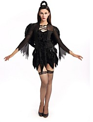 Angel/Devil Bride Cosplay Costumes Halloween Festival/Holiday Halloween Costumes Black Fashion