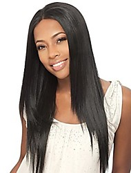 cheap -Synthetic Lace Front Wig Straight Brown Women's Lace Front Natural Wigs Long Synthetic Hair