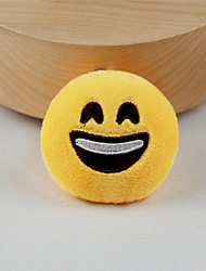 cheap -New Arrival Cute Emoji Happy Face Key Chain Plush Toy Gift Bag Pendant