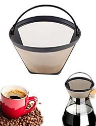 Недорогие -новый многоразовый золотой тон постоянный # 4 конус формы кофе фильтр сетка корзина фильтр
