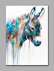 Hand-Painted Animal Vertical,Modern One Panel Canvas Oil Painting For Home Decoration