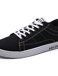 Homme Chaussures Tissu Printemps Automne Semelles Légères Basket Lacet Pour Décontracté Noir et Or Noir/blanc Noir/Rouge