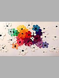 Ručně malované Květinový/Botanický motiv Horizontální,Abstraktní Jeden panel Plátno Hang-malované olejomalba For Home dekorace