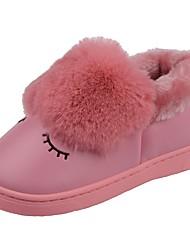 Da ragazza Scarpe Velluto PU (Poliuretano) Inverno Comoda Primi passi Fodera di pelliccia Fodera di lanugine Pantofole e infradito Pompon
