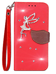 cheap -Case For Sony Xperia XA1 Ultra / Xperia XA1 Wallet / Card Holder / Rhinestone Full Body Cases Solid Colored Hard PU Leather for Sony Xperia XZ Premium / Sony Xperia XA1 Ultra / Sony Xperia XA1