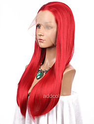cheap -Women Synthetic Wig Lace Front Long Straight Red Natural Hairline Cosplay Wig Natural Wigs Costume Wig