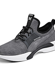 cheap -Men's Shoes Pigskin / Leather Spring / Fall Comfort Athletic Shoes Running Shoes Black / Gray