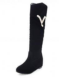Women's Boots Comfort Novelty Bootie Fall Winter Leatherette Casual Office & Career Rhinestone Wedge Heel Yellow Beige Black 2in-2 3/4in