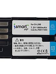 ismartdigi dli90 7.2v 1860mahカメラバッテリーペンタックスd-li90 k7 k7d k3 k5 k52s iis 645d k01