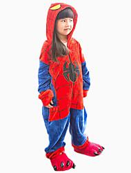 """Kigurumi Pigiama"""" Spider Costume Pigiama intero Pigiama"""" Flanella Cosplay Per Bambino Pigiama a fantasia animaletto Natale Feste / vacanze"""