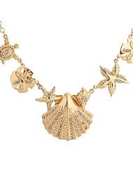 Femme Pendentif de collier Forme d'Etoile Bijoux Tortue Imitation Diamant Coquillage Alliage Basique Personnalisé Bijoux Pour Soirée