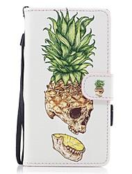 per il portafoglio del portacuscino portacartello con lo stand flip modello magnetico cassa piena del corpo cranio di frutta pu impegnata