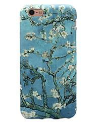 Недорогие -Назначение iPhone 7 iPhone 7 Plus Чехлы панели Ультратонкий С узором Задняя крышка Кейс для дерево Цветы Мягкий Термопластик для Apple