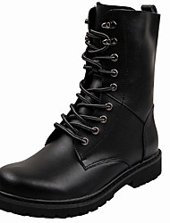 cheap -Men's Shoes Leather Fall Winter Cowboy / Western Boots Riding Boots Fashion Boots Combat Boots Boots Booties/Ankle Boots Lace-up For