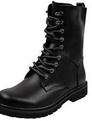 Herren Schuhe Leder Herbst Winter Cowboystiefel / Westernstiefel Reitstiefel Modische Stiefel Springerstiefel Stiefel Booties /