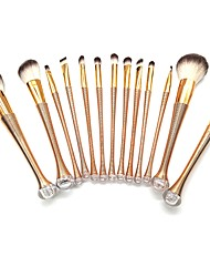 cheap -YZIMENG® 13pcs Mermaid Tail Gold Makeup Brush Set Blush/Concealer/Powder Synthetic Hair Full Coverage Portable Beauty Care Make Up for Face