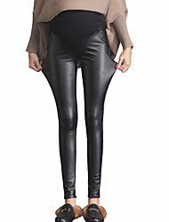 Women's High Rise Stretchy Skinny Pants,Simple Slim Skinny Solid