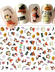 1pcs Halloween Funny Nail Art 3D Sticker Happy Halloween Nail Art Lovely Design DIY Decoration F259
