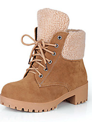 cheap -Women's Shoes Suede Fall Winter Comfort Novelty Fashion Boots Bootie Boots Flat Heel Round Toe Booties/Ankle Boots Lace-up For Office &
