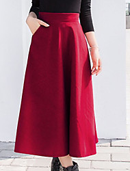 cheap -Women's A Line Skirts - Solid, Pure Color