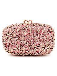 Women Bags Metal Evening Bag Crystal Detailing for Wedding Event/Party All Seasons Champagne