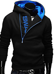 Men's Casual/Daily Hoodie Color Block Hooded Micro-elastic Others Long Sleeve Fall Winter