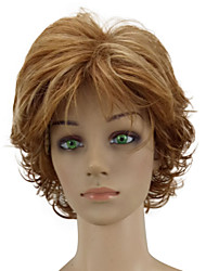 cheap -Women Synthetic Wig Capless Short Curly Golden Brown Highlighted/Balayage Hair Layered Haircut Natural Wig Costume Wigs