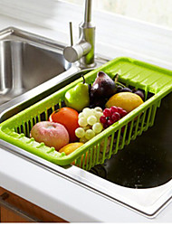 1Pc  Kitchen Plastic Flatware Green Organizers Drain basket Receiving basket