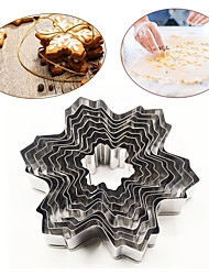 High Quality Cake Mold Diy Handmade 9 Sets Of Stainless Steel Snowflake Biscuit Accessories
