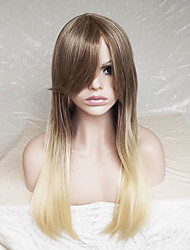 cheap -Women Synthetic Wig Capless Long Straight Strawberry Blonde/Bleach Blonde Ombre Hair Highlighted/Balayage Hair Layered Haircut Party Wig